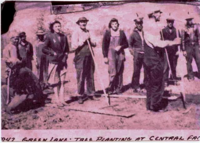 Green Lake Treeplanters - 1947
